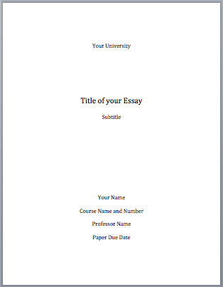 Setting up an essay format with your name